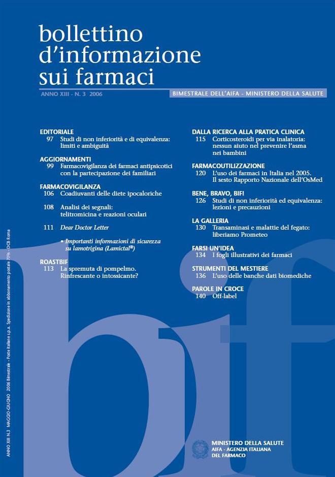 Bollettino di Informazione sul Farmaco XIII 3_2006