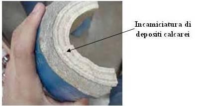 Tubo cemento amianto con calcare